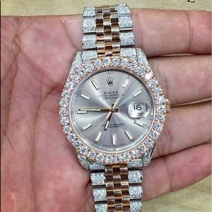 Diamond RoseGold Rolex DateJust